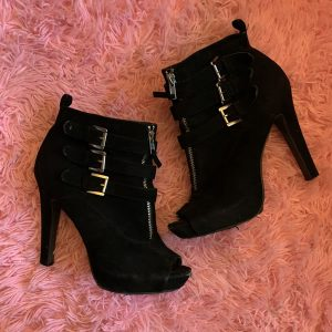 3 Buckle Open Toe Heel Boot