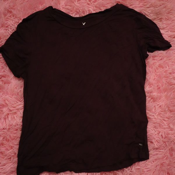 American Eagle Burgundy Shirt
