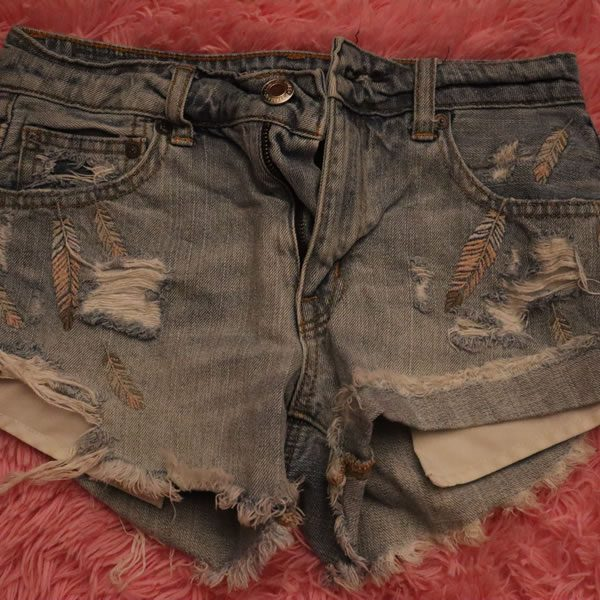 Feather Jean Shorts