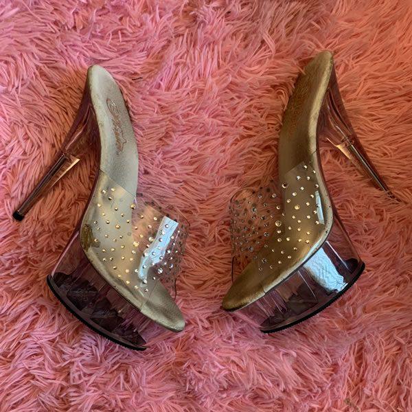 Jewel Stripper Heels