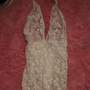 New Years White Lace Dress