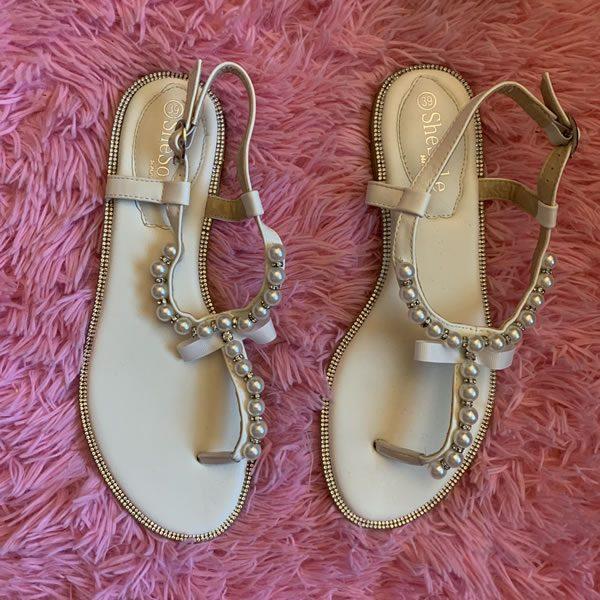 Pearl Flat Sandals