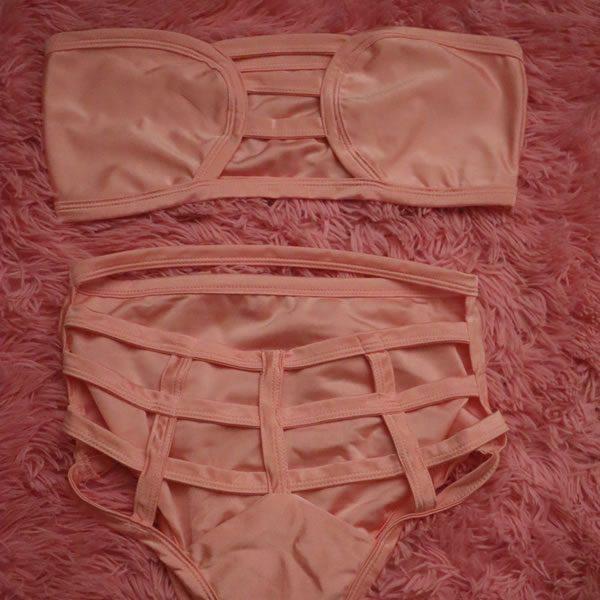 Pink 2 Piece Swimsuit