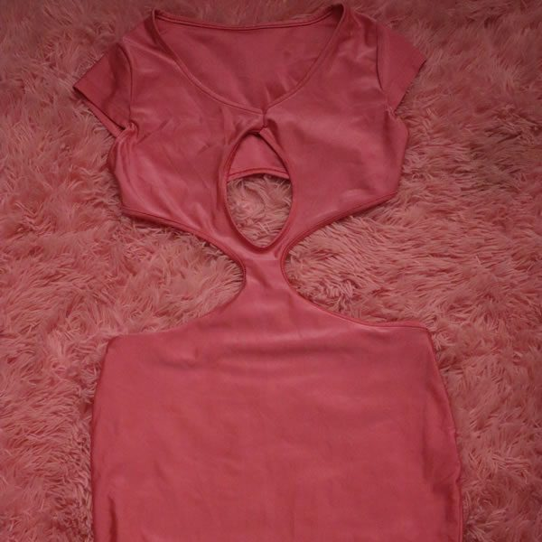 Pink Cutout Dress