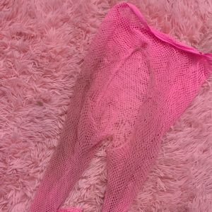 Pink Fishnet Halloween Stockings