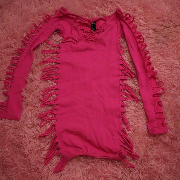 Pink Holey Dress