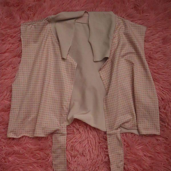 Pink Tie Crop Top